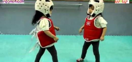 【テコンドー】子ども同士のテコンドーの試合がゆるゆるでかわいすぎる!