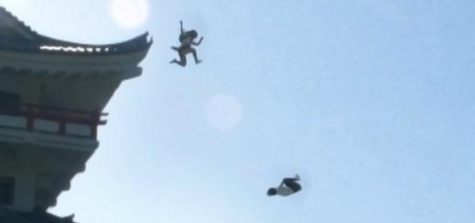 【忍者】女子高生忍者が制服で走る!飛ぶ!回る!疾走感あふれる追いかけっこがスゴイぞ!!