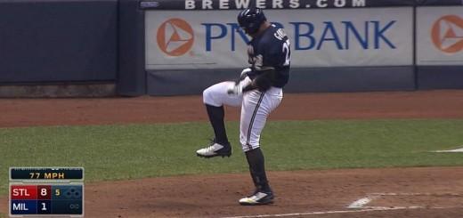 【野球】色んな意味で痛そうな・・・バット折りに失敗したメジャーリーガーたちの悲しい姿www